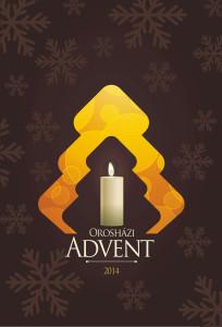Az Orosházi Advent 2014 programsorozat kiadványnak borítója. Már lehet keresni a 8 oldalas kiadványt
