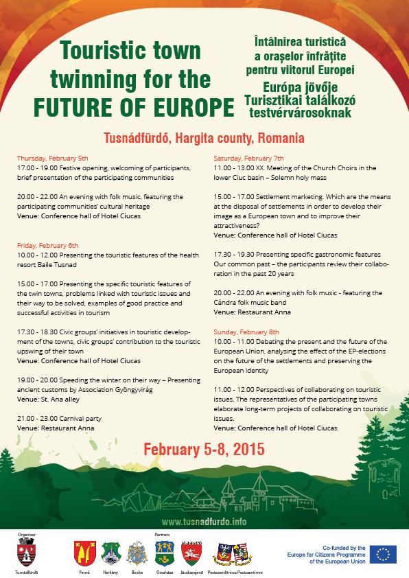 Európa Jövője – Turisztikai találkozó testvérvárosoknak román
