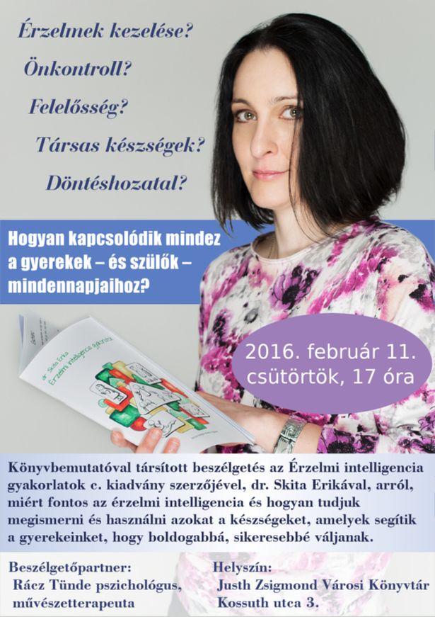 Könyvbemutatóval társított beszélgetés dr. Skita Erikával