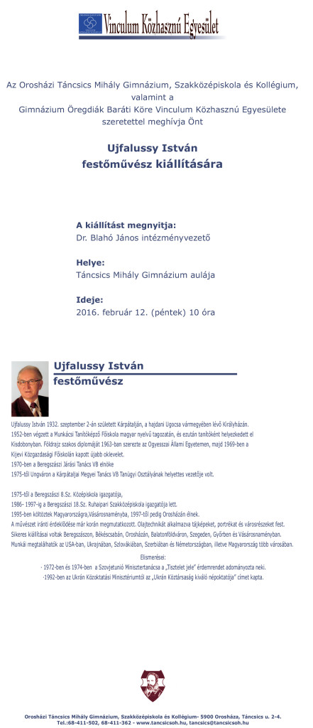 Ujfalussy István festőművész kiállítására