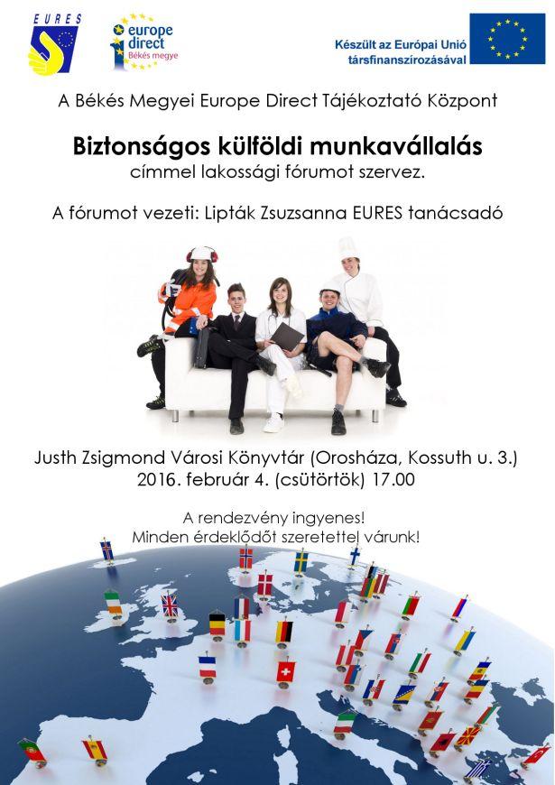 Lakossági fórum a biztonságos külföldi munkavállalásról