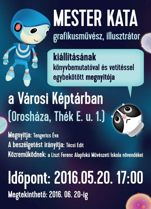 Mester Kata grafikusművész, illusztrátor kiállításának megnyitója
