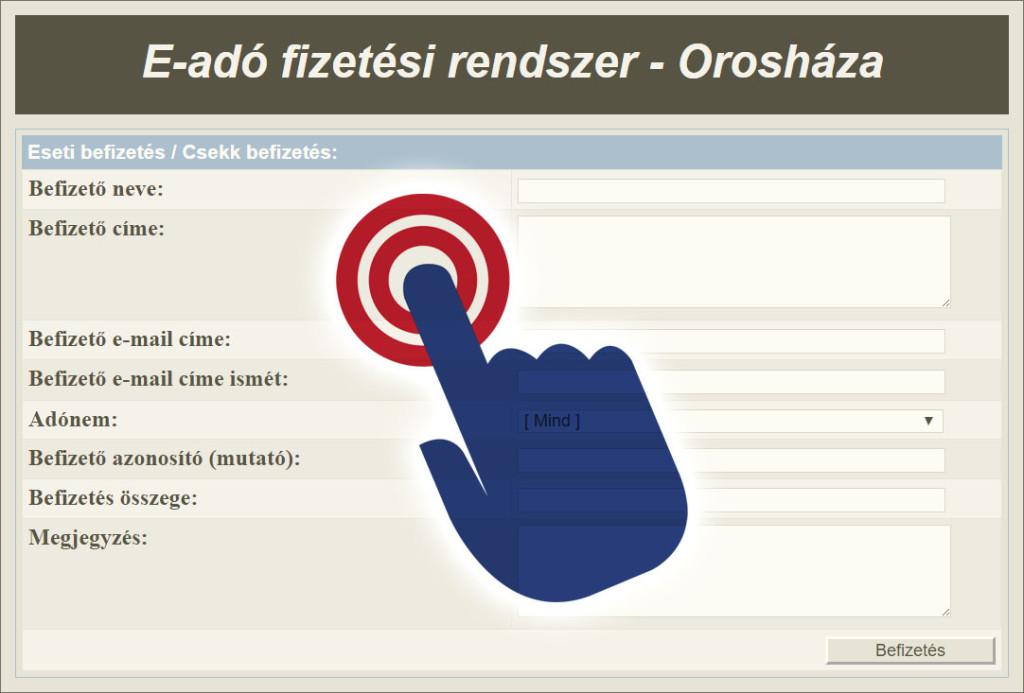 E-adó fizetési rendszer – Orosháza