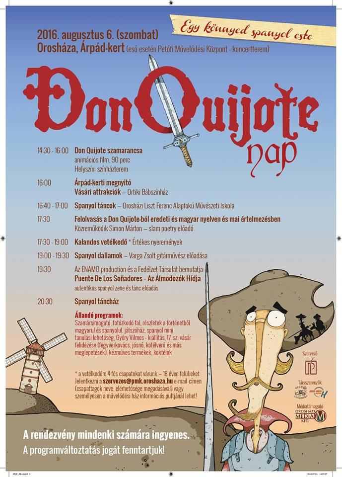 Don Quijote nap az Árpád-kertben
