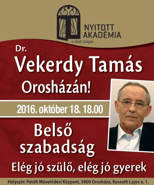 Dr. Vekerdy Tamás Orosházán