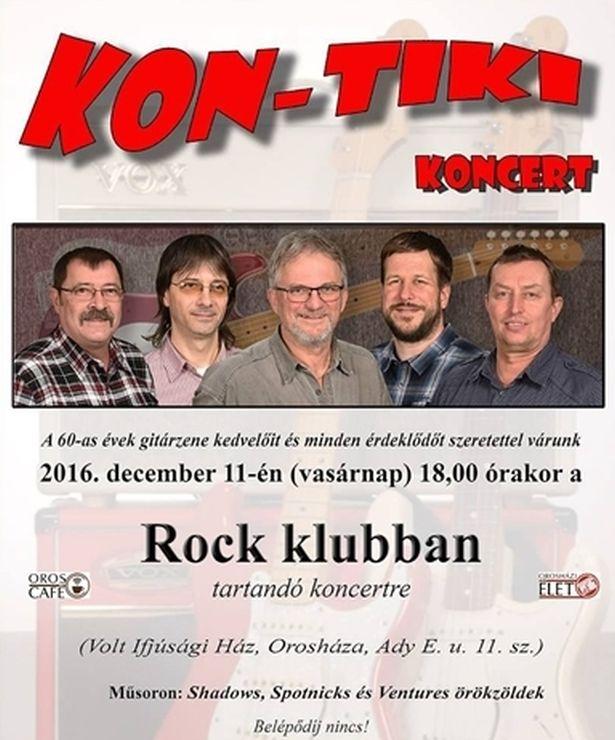Kon-Tiki koncert a Rock Klubban