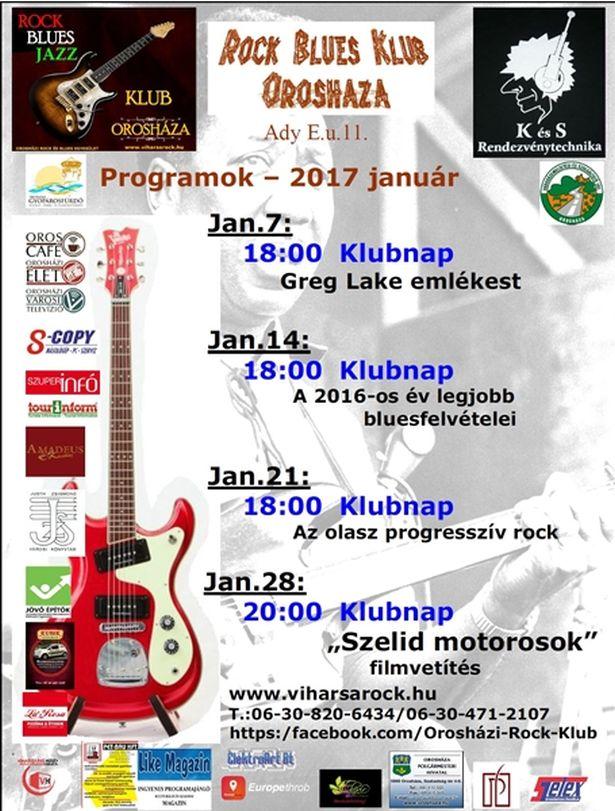 A Rock Klub januári programjai