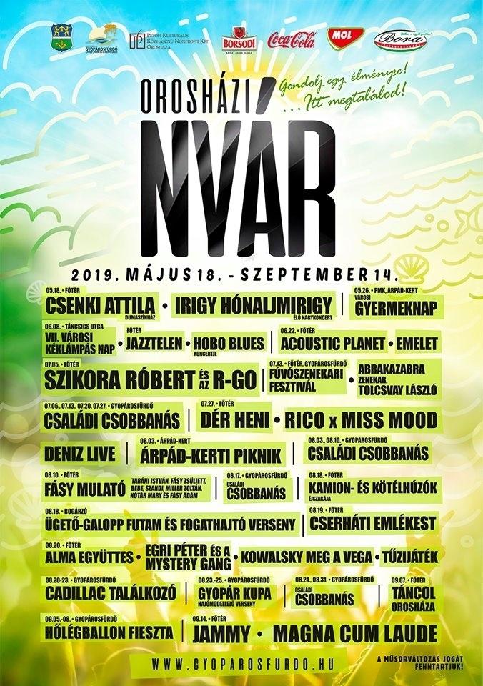 Orosháza nyár fesztivál 2019